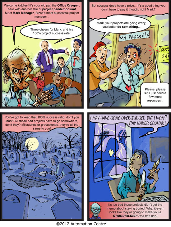 Halloween comic for project managers