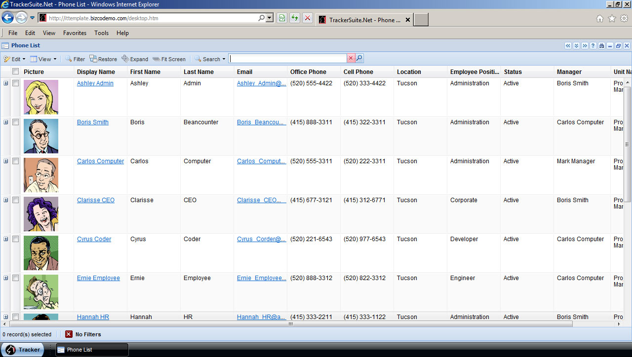 a sneak peek at personnel tracker net 4 0 automation centre